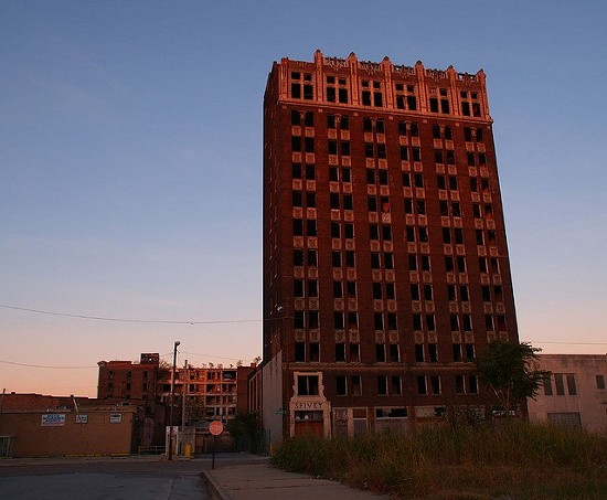 The Spivey Building in downtown East St. Louis. - CHRISTINA RUTZ VIA FLICKR