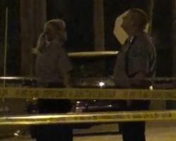 Crime scene last night. - VIA KMOV.COM