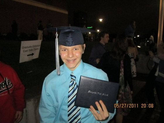 Matthew Pellegrini at his graduation. - COURTESY OF INKLEY