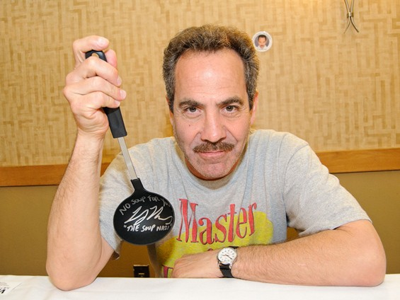 """Larry Thomas, who famously played the """"Soup Nazi"""" on Seinfeld, now travels the convention circuit in addition to acting. See a full slideshow from Con-tamination here. - PHOTO: JASON STOFF"""