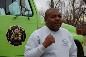 Darran Kelly, chief of the Kinloch Fire Protection District - PHOTO BY KEEGAN HAMILTON