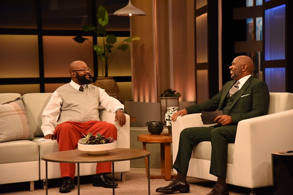 George Love, left, with TV star Steve Harvey. - COURTESY OF GEORGE LOVE
