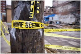 Perhaps the tape should read: Crime seen?