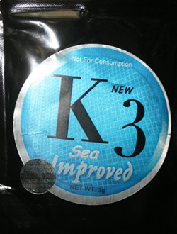 K3 is one of the synthetic marijuanas that replaced the previously banned K2.