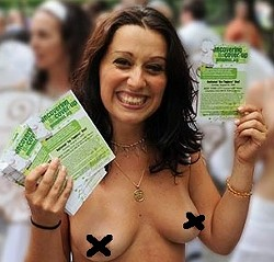 GoTopless encourages the women of Columbia to free their, um, minds. - GOTOPLESS.ORG