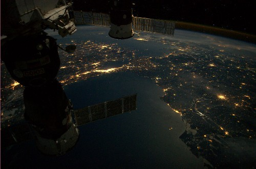 Istanbul, photographed from the International Space Station on April 15. - ANDRE KUIPERS, ESA/NASA