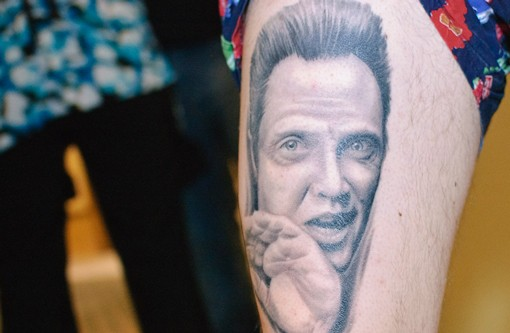 This tattoo needs more... Cowbell! See more photos from the Old School Tattoo Expo. - PHOTO: JASON STOFF