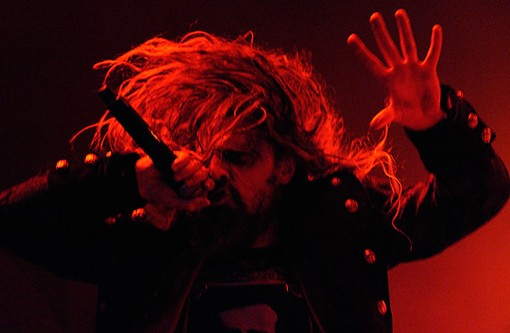 Rob Zombie raging at the Pageant on Sunday night. See more photos from Sunday night here. - PHOTO: TODD OWYOUNG