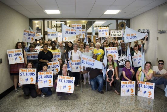Take Back St. Louis at the city election board yesterday. - COURTESY OF MORE