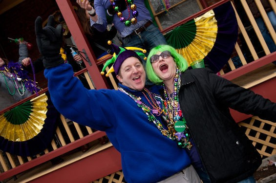 If it can't survive Mardi Gras, it's not real love. - JON GITCHOFF