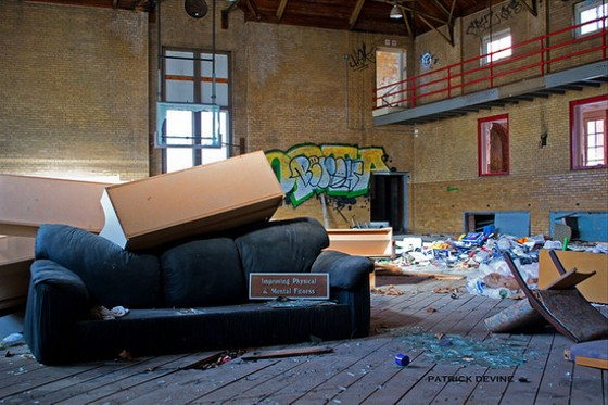 An abandoned YMCA gym somewhere in St. Louis. - COURTESY PATRICK DEVINE