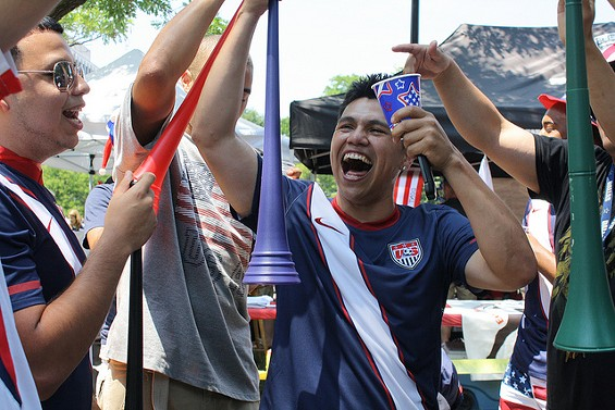 These guys have a clear case of World Cup fever. - ELVERT BARNES ON FLICKR
