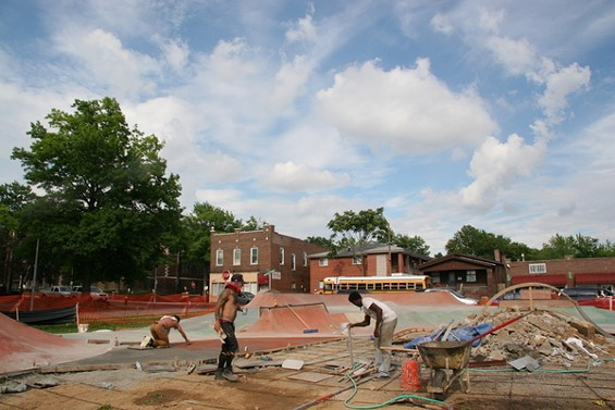 The Peter Mathews Memorial Skate Park. - PHOTOS COURTESY OF THERESA SONNENSCHEIN, UNLESS NOTED
