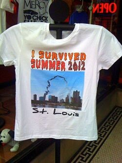 It's going to be in the upper 80s today. Still plenty of time to wear this shirt with pride!