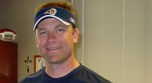 When he was Rams head coach, Scott Linehan got excited over very little. - IMAGE VIA