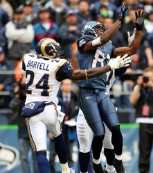 Bartell in action against the Seattle Seahawks - STLOUISRAMS.COM