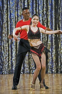 """Boyd, dancing in a Boston area """"Dancing With the Stars""""-style charity event. Looks pretty spry to me."""
