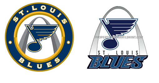 The new Blues jersey (left) and Swint's design (right). - ESPN