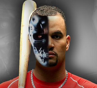 Despite what this clever bit of Photoshopping suggests, Albert Pujols is not a machine. He needs rest, says manager Tony La Russa.