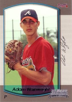 This week's card is a 2000 Adam Wainwright rookie card by Bowman. That's a young Adam Wainwright, no?