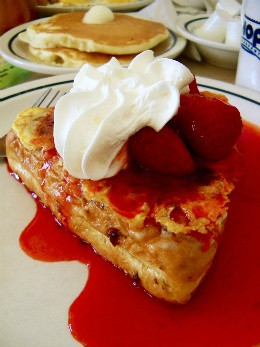 Skip the freezer aisle and go straight to the source for the real deal -- IHOP's stuffed French toast. - ETTIE BERNEKING