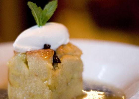 Harvest's famous bread pudding. | Kholood Eid