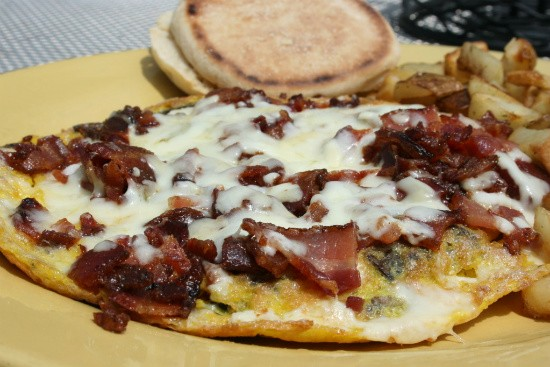 A bacon, mushroom and cheese blend frittata - CHRISSY WILMES