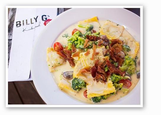 Billy G's ravioli prosciutto ($16.99).   Mabel Suen