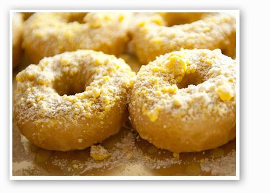 The gooey butter doughnut at Strange Donuts. | Jon Gitchoff