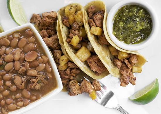 The tacos al pastor at Milagro Modern Mexican. - JENNIFER SILVERBERG