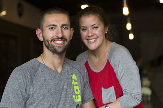 Athlete Eats owners Simon and Angelica Lusky.   Jennifer Silverberg