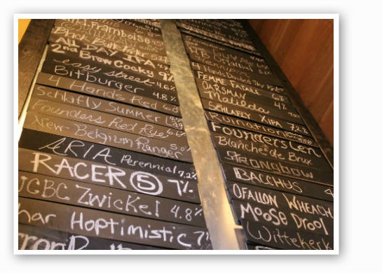 The beer list at iTap in the Central West End. What's your favorite?   Pat Kohm