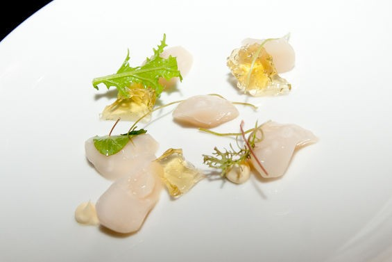 One of our favorite dishes, the scallops. | Jon Gitchoff
