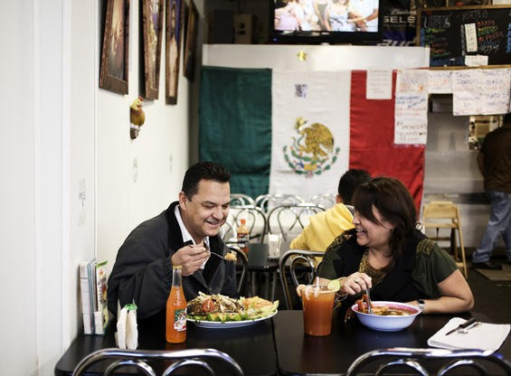Tony and Brenda Garcia, husband and wife co-owners of La Tejana. Let's pretend one of them is eating the carnitas plate. - JENNIFER SILVERBERG