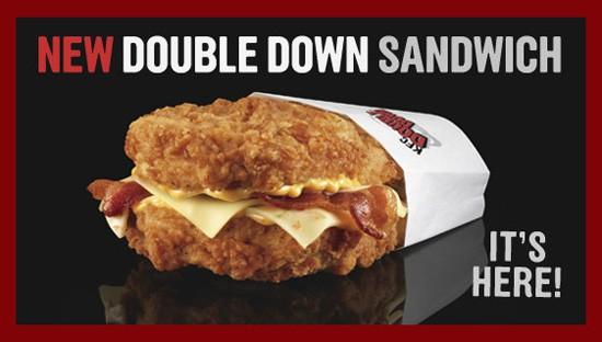 The house always wins with KFC's Double Down. - VIA KFC.COM