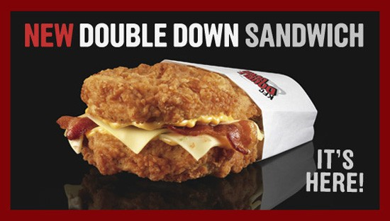 The house always wins with KFC's Double Down. - VIA KFC.COM