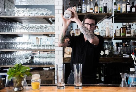 It's happy hour all night at the Libertine as chef Josh Galliano cooks at the James Beard House in NYC. | Jennifer Silverberg