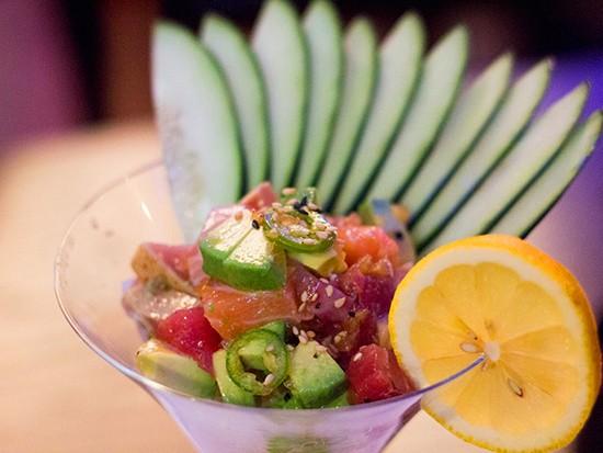 Sashimi martini ($8.95). - MABEL SUEN