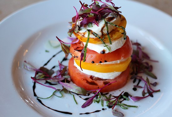 The tomato salad of the day at Tavolo V. - MABEL SUEN