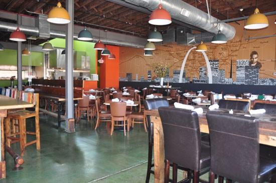 Inside the dining room at Tavolo V. - TARA MAHADEVAN