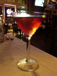 The pomegranate martini at Mango. - CAILLIN MURRAY