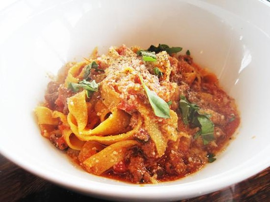 Housemade pasta with sausage ragu at the Tavern Kitchen & Bar - IAN FROEB