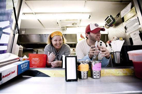 Cha Cha Chow co-owner Linda Jones and general manager Brett Reagan - JENNIFER SILVERBERG