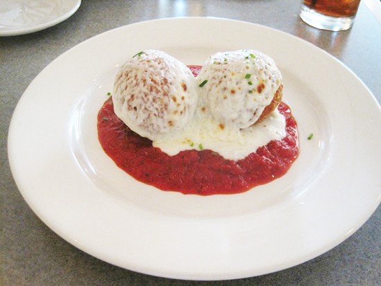 The arancini at Lorenzo's Trattoria - IAN FROEB