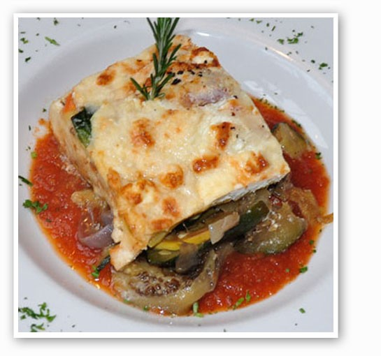 Vegetable lasagna at SqWires Restaurant. | Tara Mahadevan