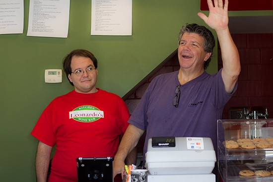 Co-owner Rich LoRusso (right) strikes a pose for the camera.