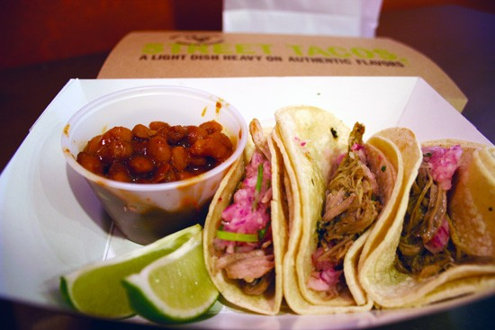 QDOBA'S MINI STREET TACOS: FOR PEOPLE WHO LIKE THEIR STREET FOOD SMALL AND NOT REALLY FROM THE STREET.