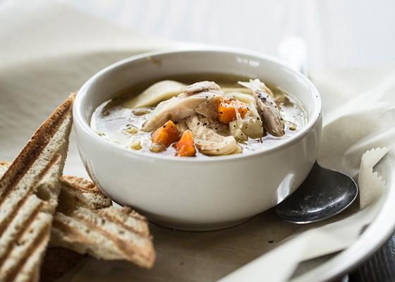 Chicken noodle soup. | Jennifer Silverberg