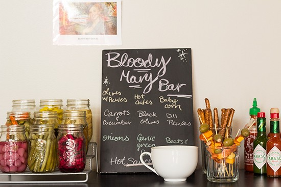The bloody-mary bar.