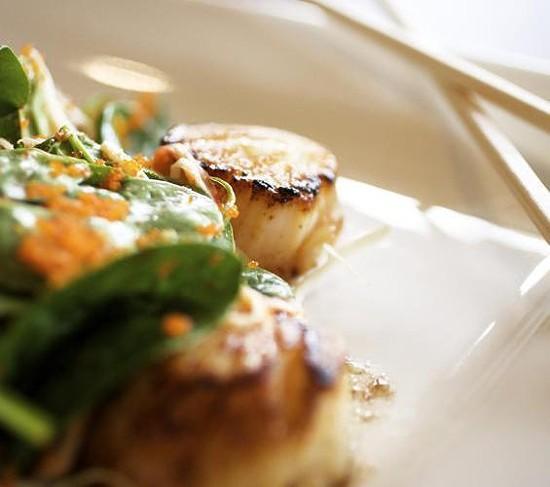 A scallop dish at Fin Japanese Cuisine - JENNIFER SILVERBERG